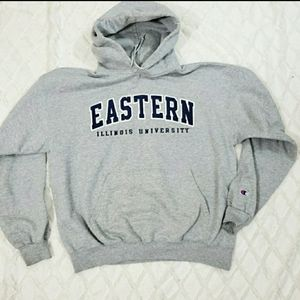 Champion Eastern, IL. University Hooded Sweatshirt